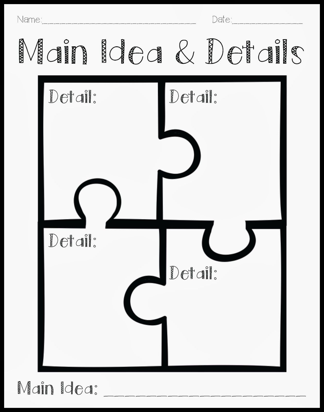 worksheet Finding Main Idea Worksheets 1000 images about main ideadetail on pinterest getting to know writing graphic organizers and texts