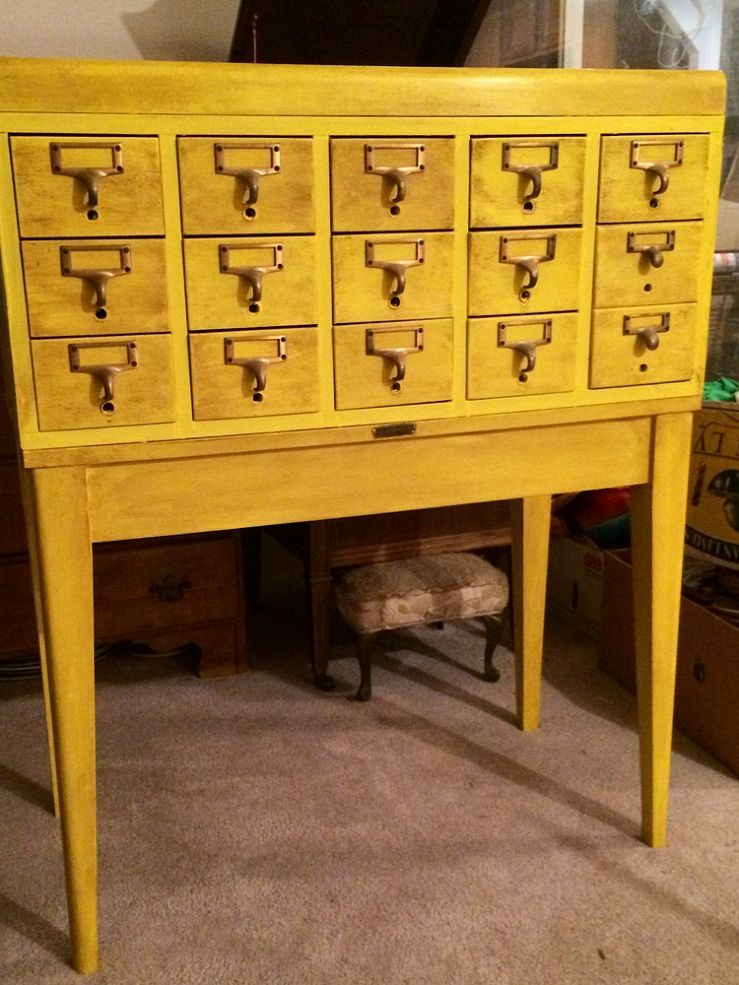Best Looking Dewey Decimal System Ever Library Card Catalog And Paint Furniture