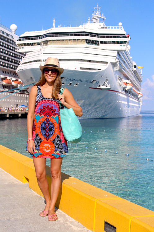 Bright and printed dresses are easy to pack and lightweight.