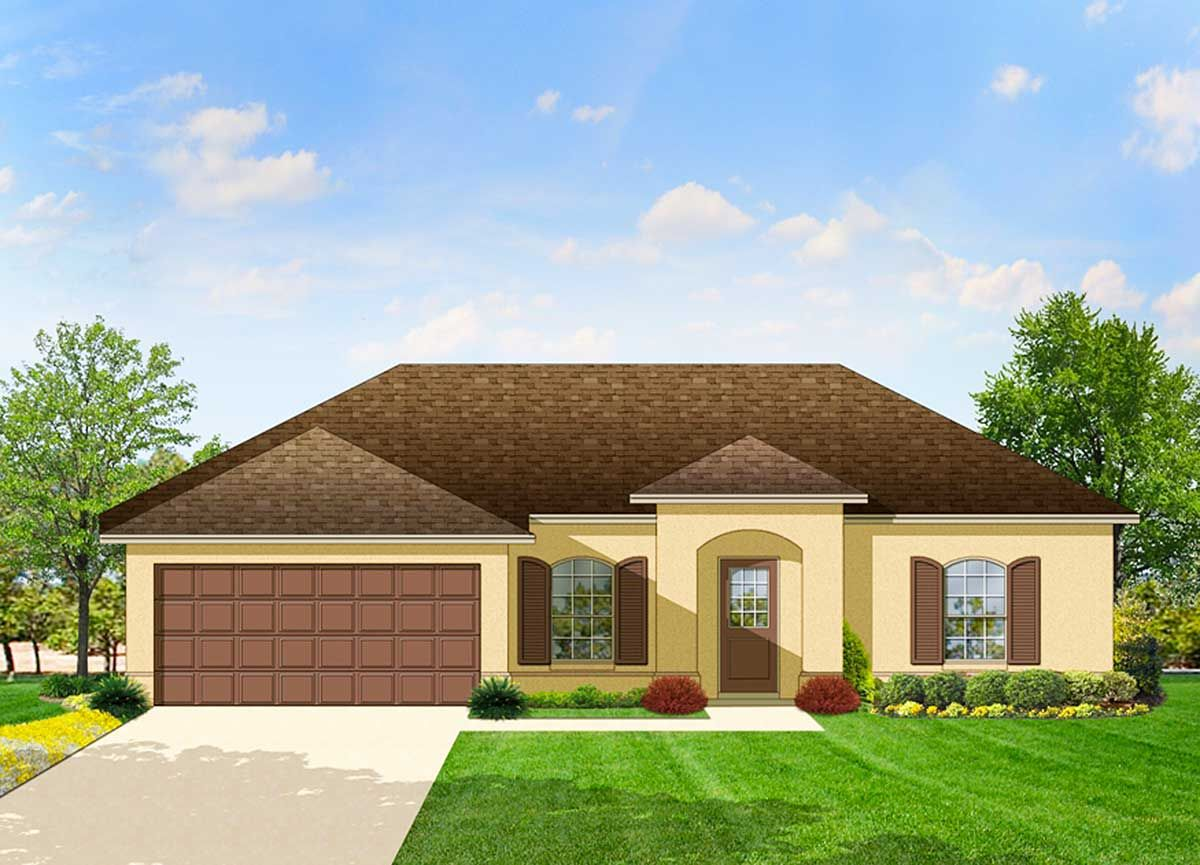 Plan 82023ka Southern Ranch With Open Layout Mediterranean Style House Plans Mediterranean House Plans Colonial House Plans