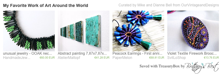 My Favorite Work of Art Around the World etsy treasury curated by Mike and Dianne Bell