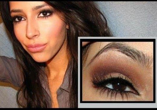 Kim Kardashian Makeup Tips & Organizer | Brown smokey eye ...
