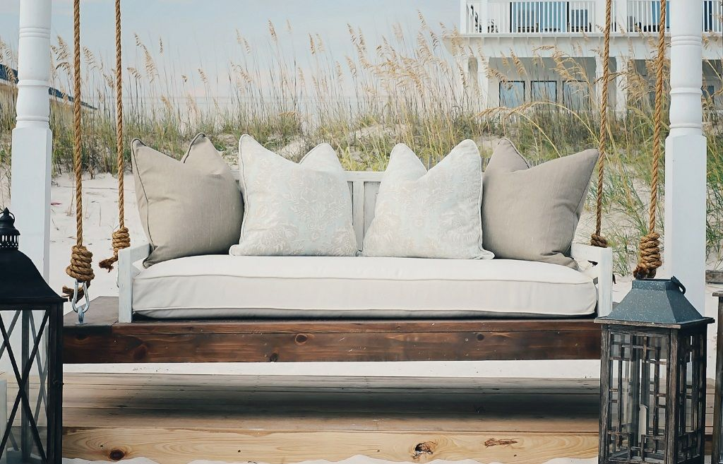 Build A Porch Swing Bed Invest In A Comfortable Mattress Porch