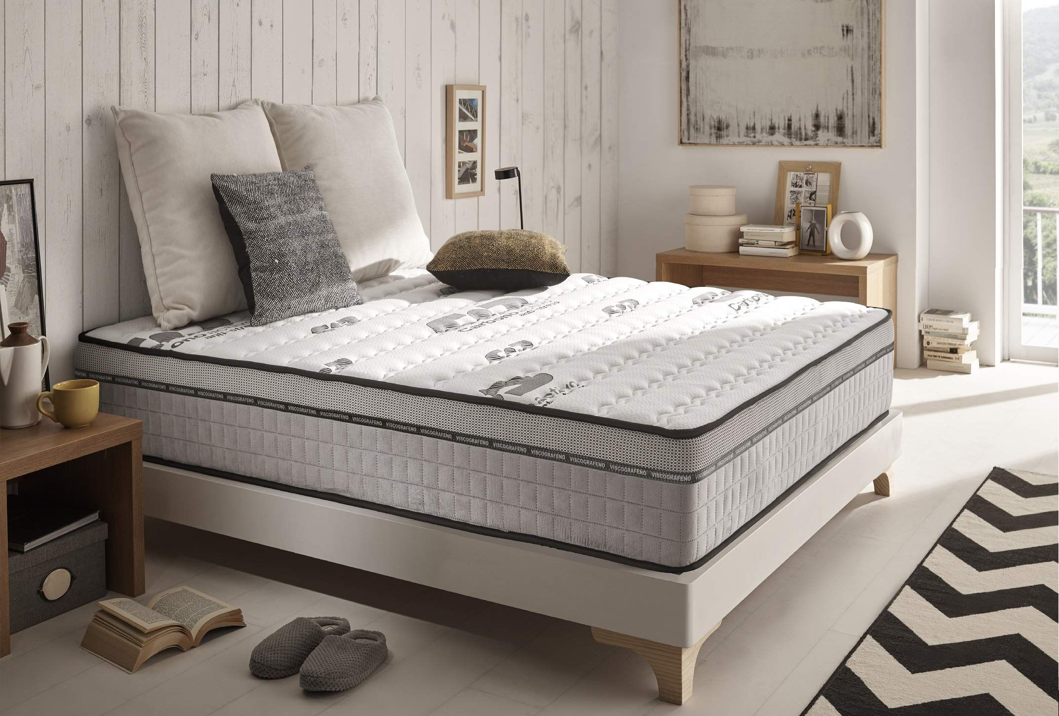 Naturalex Visco Carbone Materasso Matrimoniale 160x190 Cm Memory E Lattice Multistrato 24 Cm Visoelastico Semirigido In 2020 Mattress Furniture Home Decor