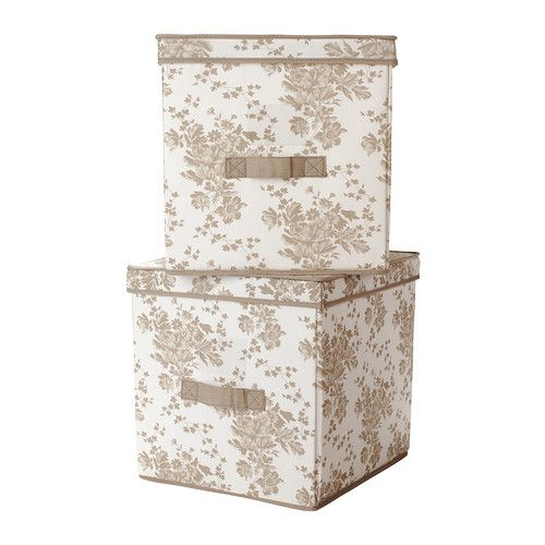 Delicieux $19.99/2 Fabric Storage With Comic Book Dividers? GARNITYR Box With Lid IKEA  Handle On One Side Makes The Box Easy To Pull Out. Label Holder On One  Side; ...
