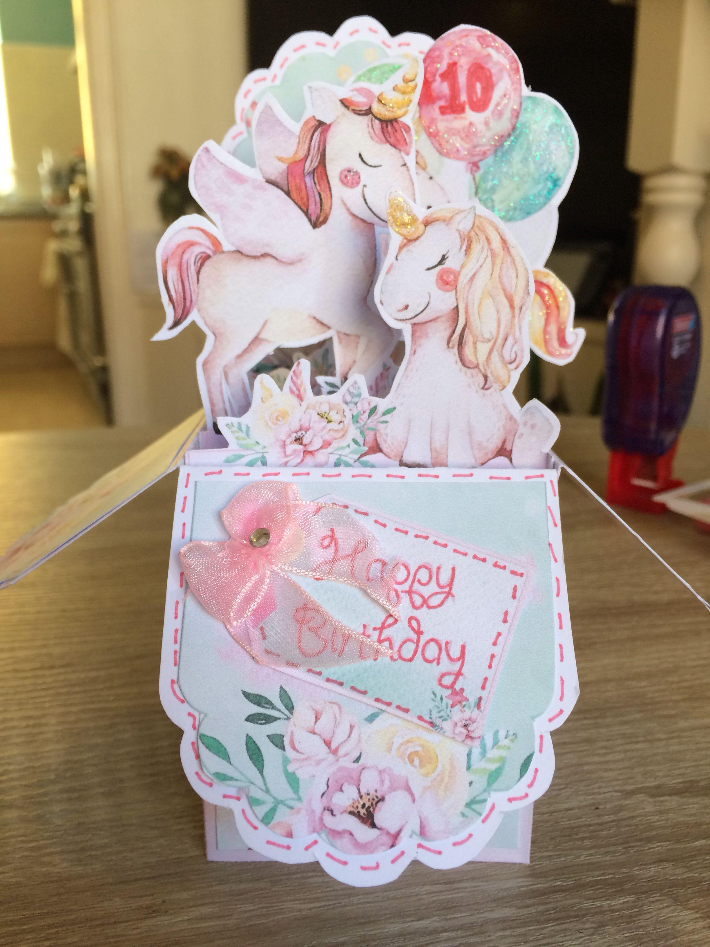 My Magical Unicorn Pop Up Box Card Pop Up Box Cards Card Box Cute Cards