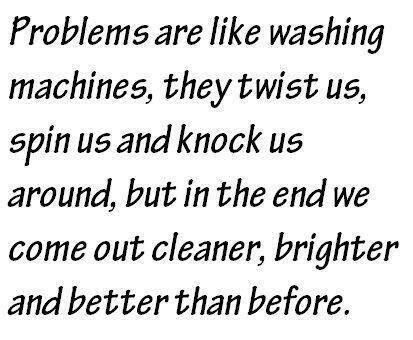 Problems are washing machines