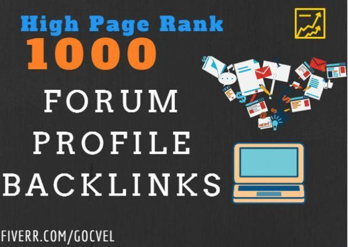 Create over 2000 backlinks with a high PR forum profile