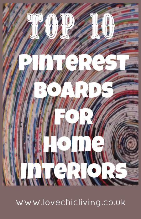 Top home decor pinterest boards