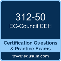 EDUSUM.com is one of the best online practice exams to start your preparation for EC-Council CEH certification online practice exams. http://www.edusum.com/ec-council/312-50-certified-ethical-hacker