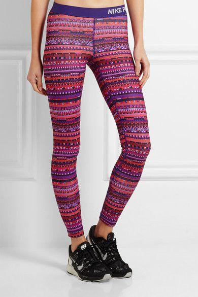 Nike | Pro Warm 8 printed stretch-jersey leggings | NET-A-PORTER.COM