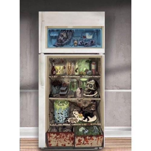$995 - Zombie Refrigerator Halloween Party Decoration Scene Setter - halloween scene setters decorations
