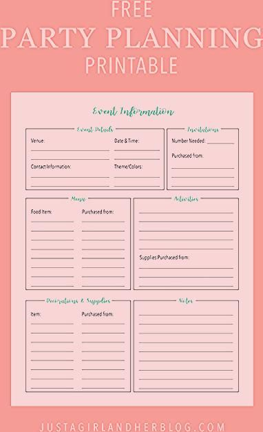 Photo of Party Planning: Organized (with FREE Printables!)