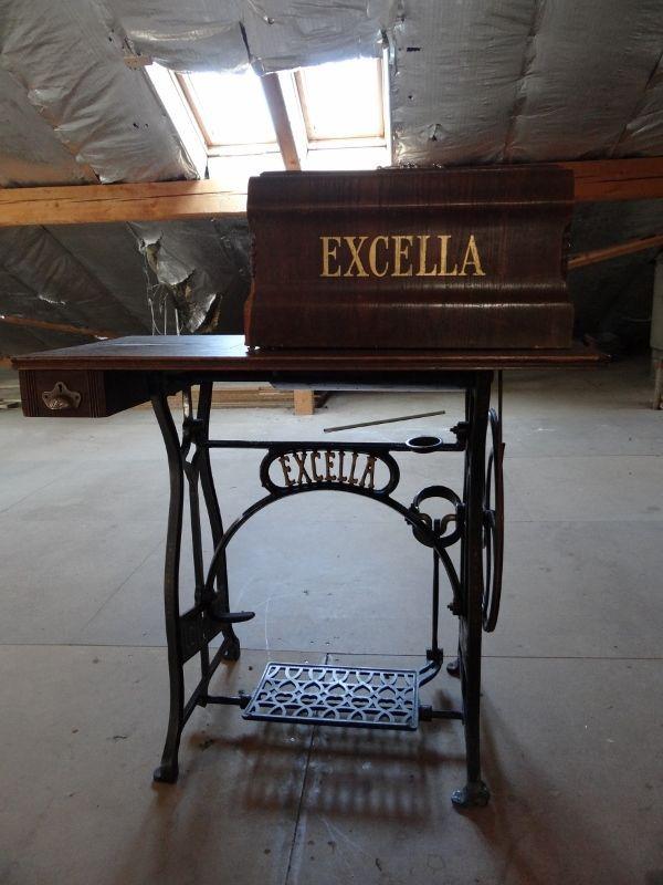 Vintage Excella treadle sewing machine vintage or antique sewing - kohler k chenmaschine ersatzteile