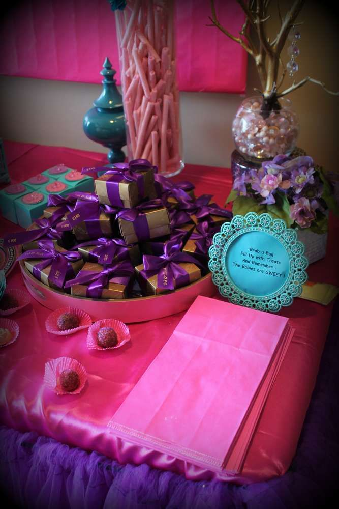High Quality Pink Purple Turquoise, Itu0027s A Girl Baby Shower Party Ideas