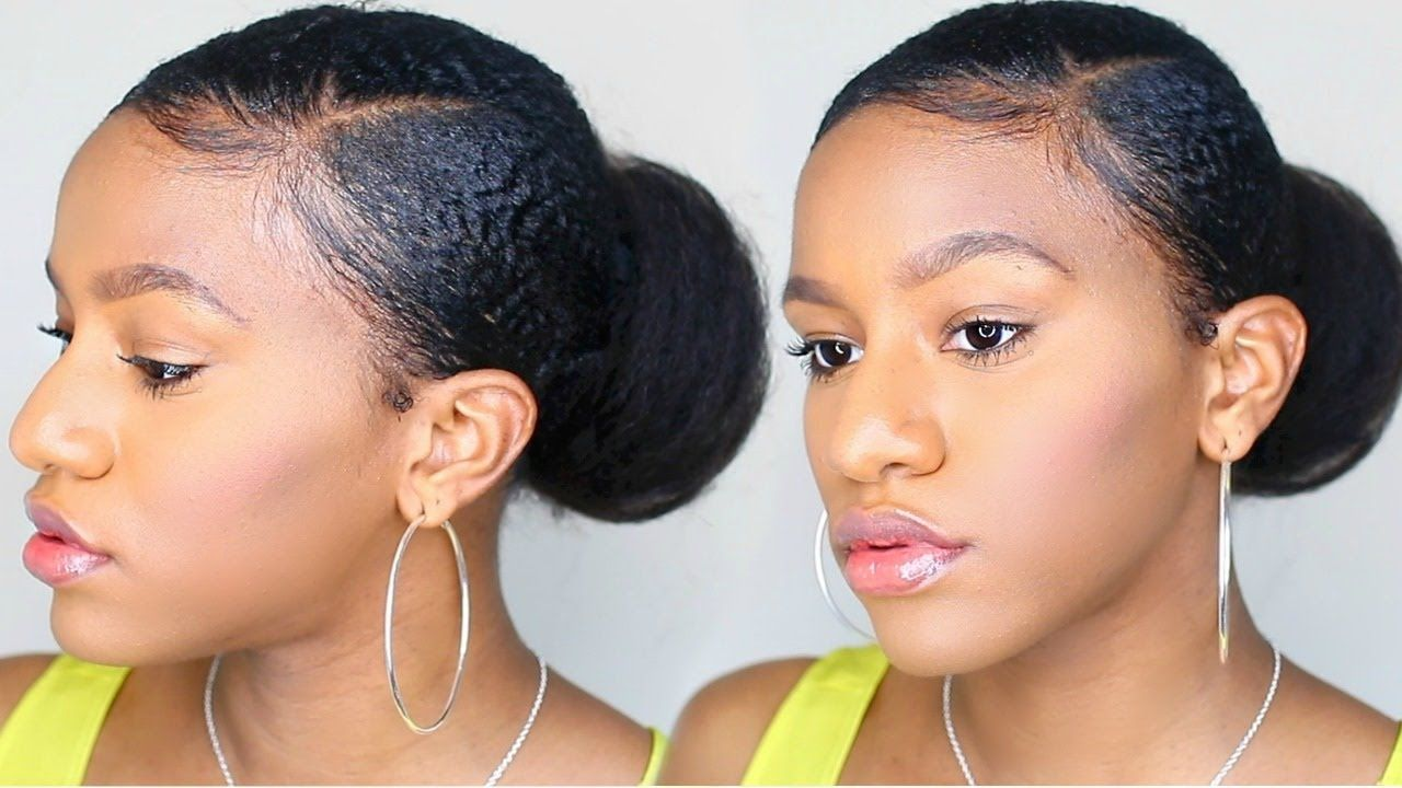 How To Sleek Bun On Short Natural Hair Natural Hair Styles