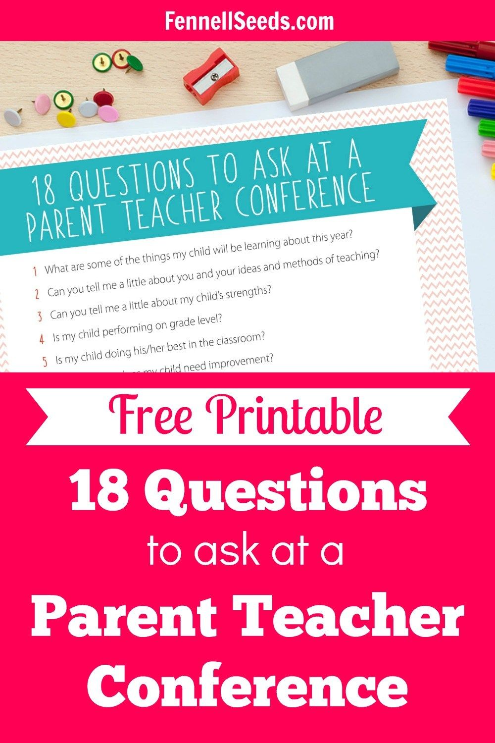 What To Ask During A Parent Teacher Conference Including Printable