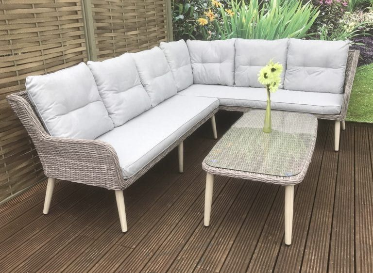 Rattan L Shape Corner Sofa Set Danielle Rattan Garden Furniture Furniture Dining Sofa