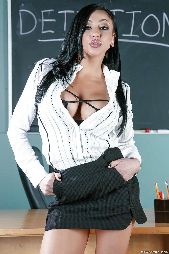 brunette teachers Hot milf