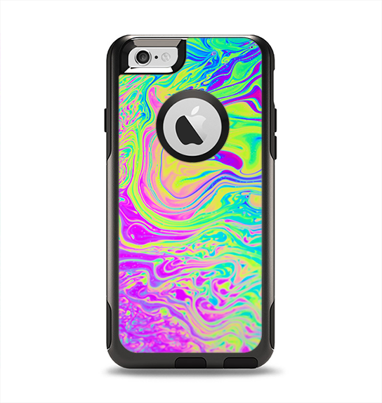 The Neon Color Fushion Apple iPhone 6 Otterbox Commuter Case Skin Set