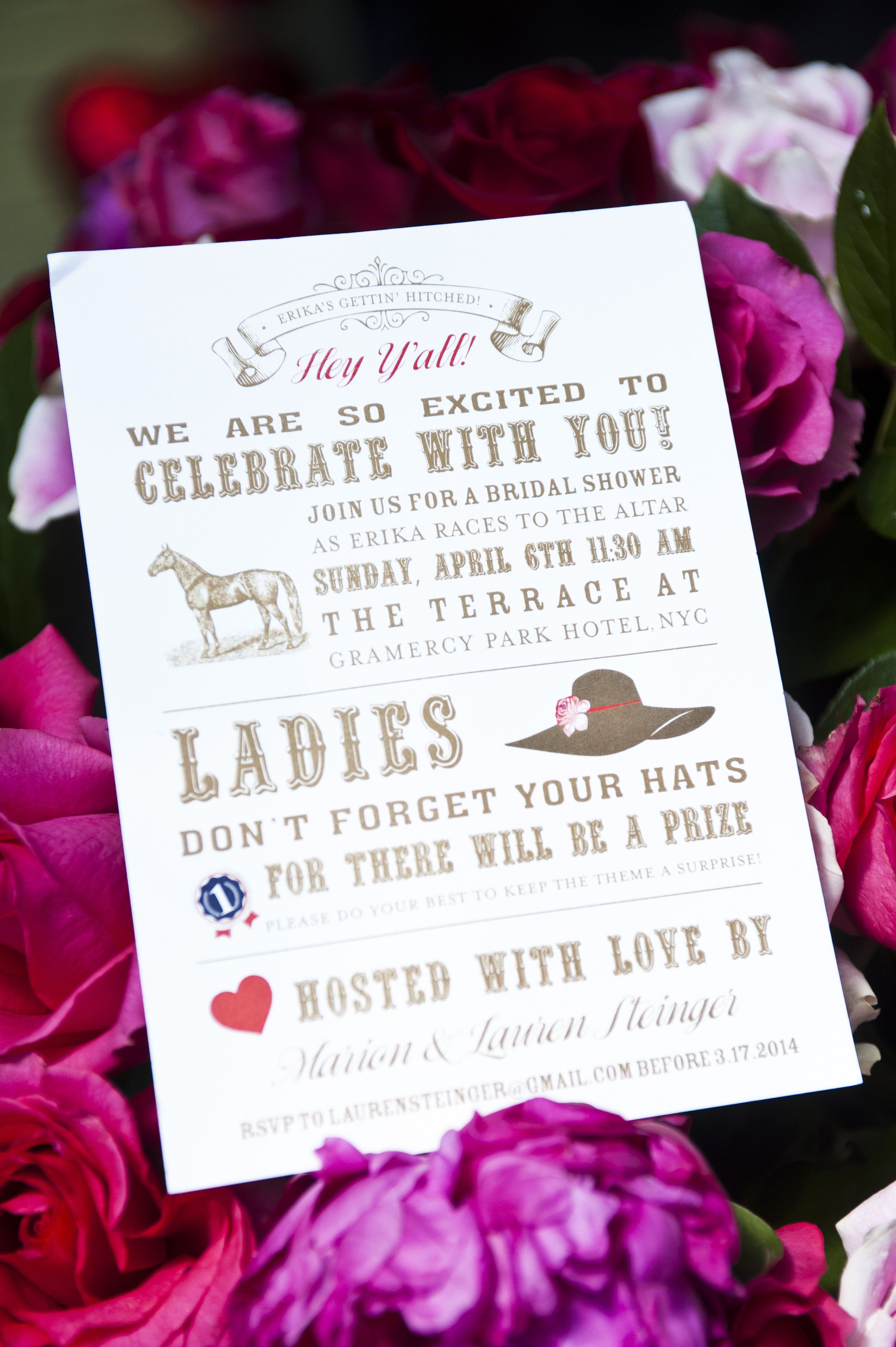 Kentucky Derby Bridal Shower Invitation By Prim Pixie Kentucky