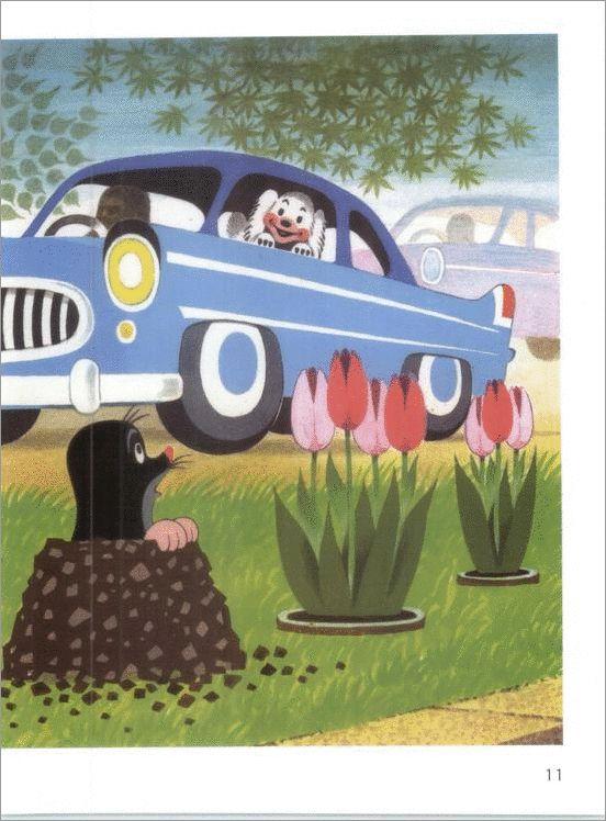 (2015-02) Bien kører i bil og kigger ned på muldvarpen
