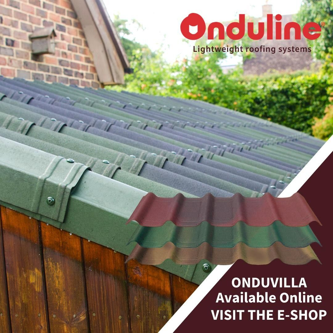 Available To Buy Direct From Onduline Onduvilla Roof Tiles Are A Lightweight Bitumen Roofing Sheet Which Is Ideal For Garden Sheds Summerhouses And Outbuildi I 2020