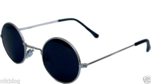 Wholesale-Lot-12-Pair-John-Lennon-Sunglasses-Silver-Frame-Black-Lenses-Hippie