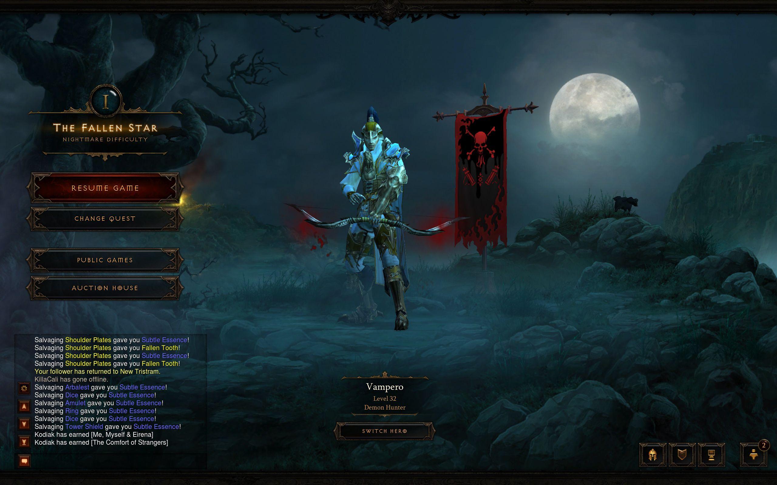 Diablo III NIGHTMARE here I come ! Demon hunter