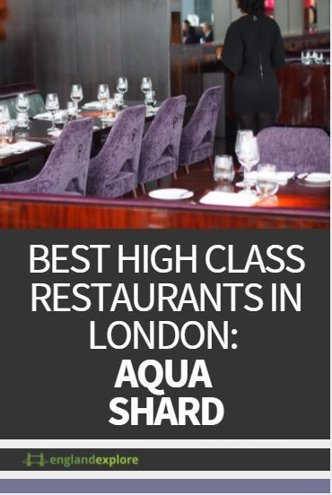 The uniquely named Aqua Shard serves British and Modern European cuisines. Located on the 31st floor, the bar is located in a two-story atrium with immense windows and lots of natural light.