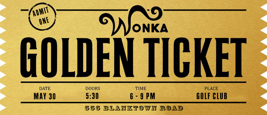 Golden Ticket Photoshop Template by davodavito.deviantart.com on ...