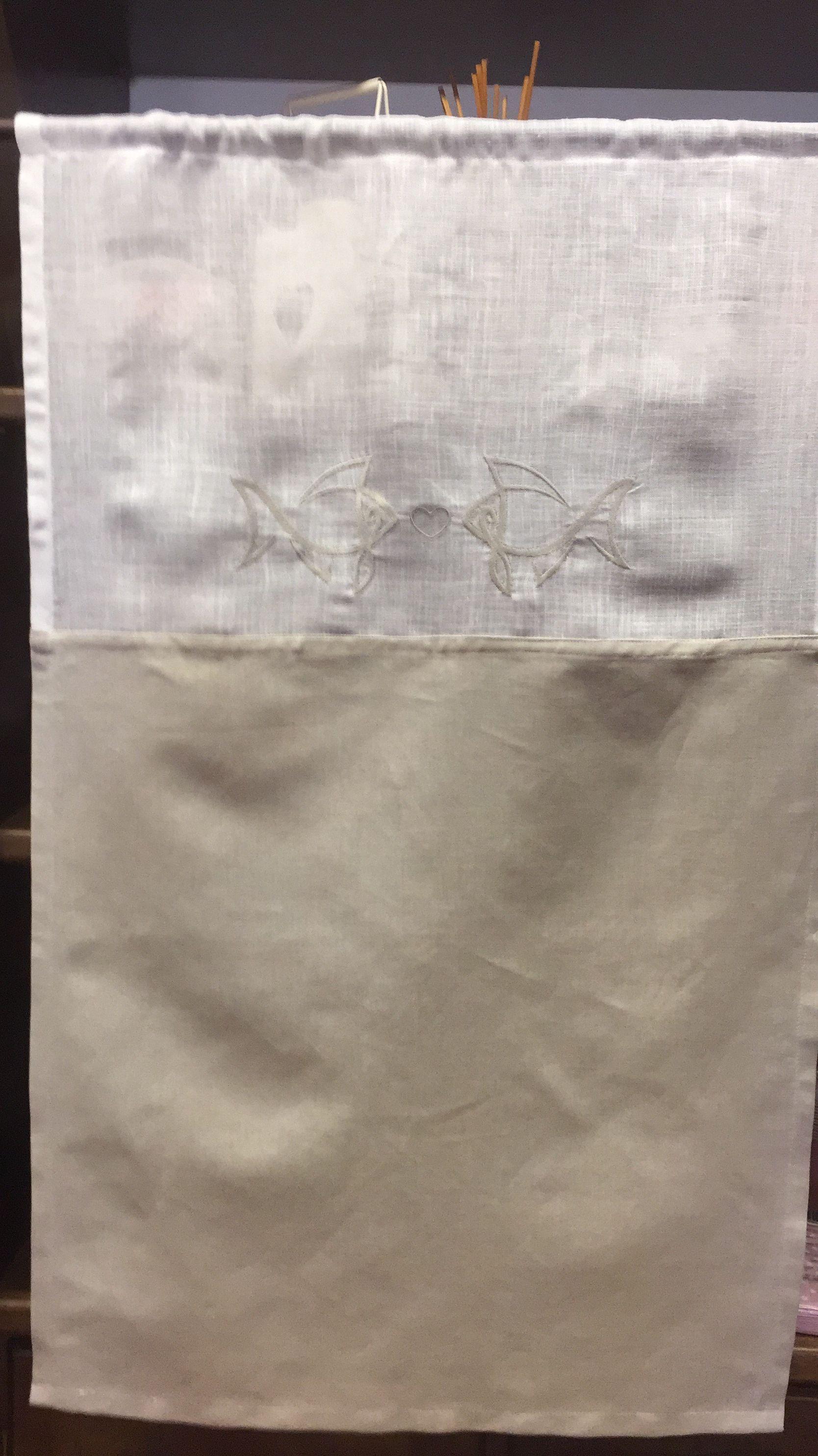 Tendina Bagno ~ Tenda bagno con pesciolini ricamati le pleisì de pacou tende le