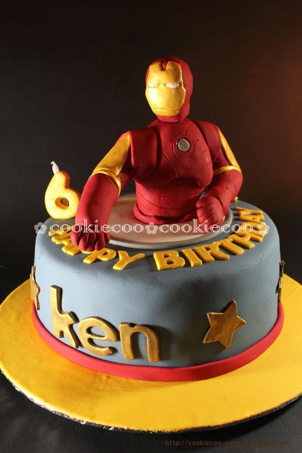 Sensational Cookiecoo Iron Man Cake For Ken Ironman Cake Cake Kids Cake Personalised Birthday Cards Akebfashionlily Jamesorg