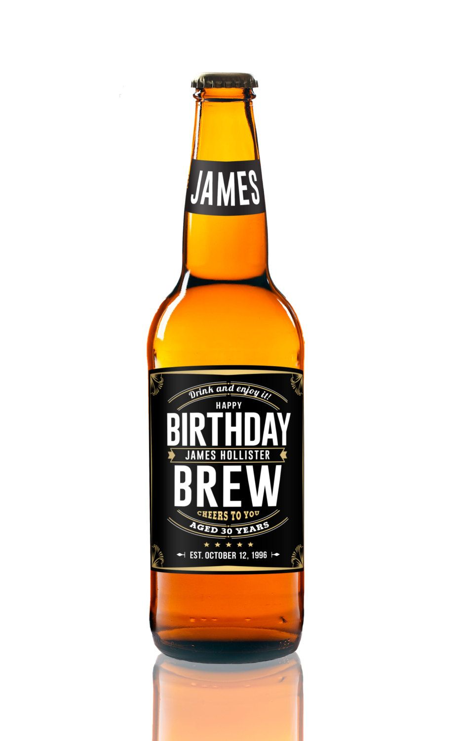 Birthday Beer Labels - Birthday Brew - Birthday Party Beer Favors ...