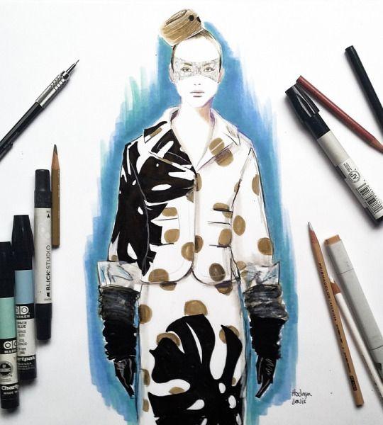 Fashion Illustration & Textiles by Hodaya Louis