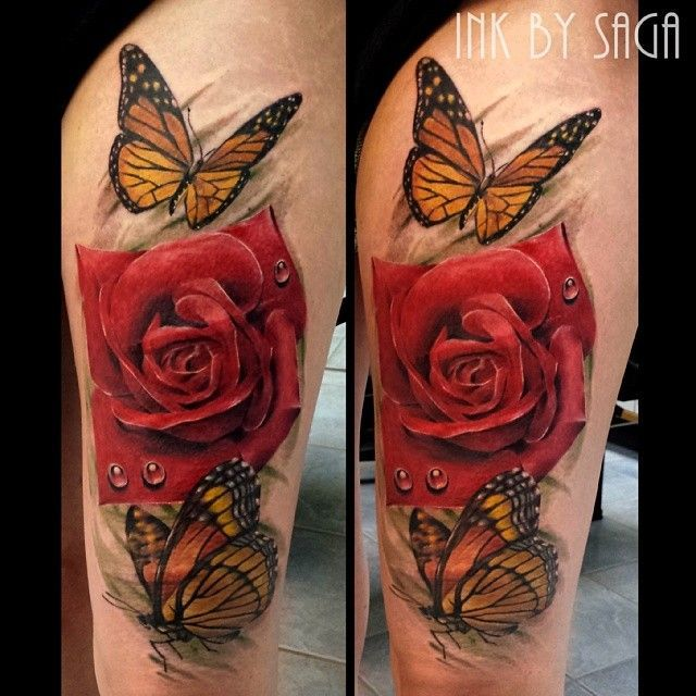 718458a07 beautiful crazy butterfly tattoos beautiful crazy flower tattoos ...