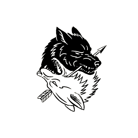 Image by Shutterstock Amazing Wolf Head Art Tee Men/'s