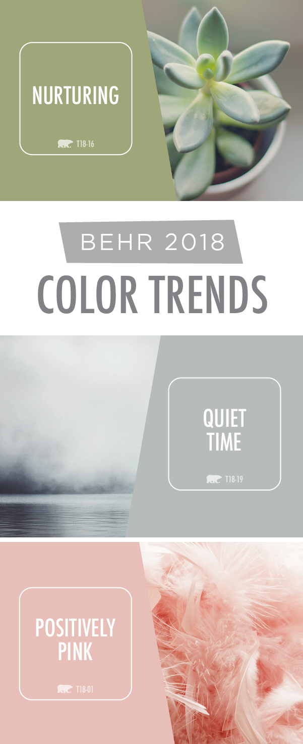 The Behr 2018 Color Trends Are All About Soft Soothing