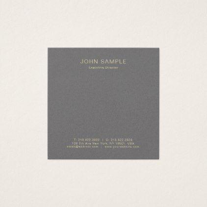 Modern Professional Creative Pearl Finish Luxury Square Business Card    Elegant Gifts Classic Stylish Gift Idea