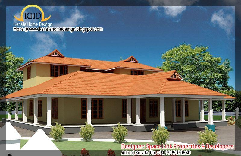 Traditional Kerala Nalukettu Houses Plan