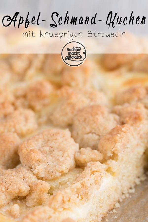 Photo of Apple pie with crumble and sour cream Baking makes you happy