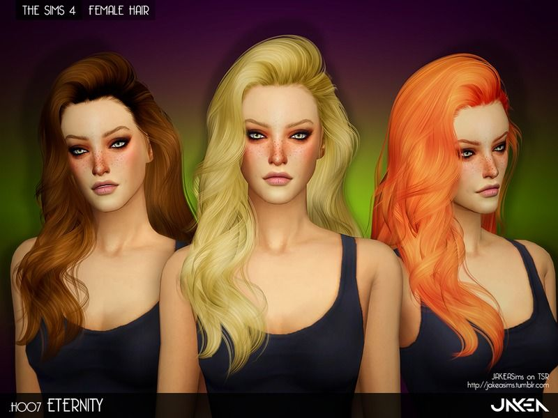 Long Wavy Hairstyles For Female Found In Tsr Category Sims 4 Female