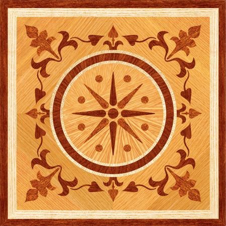 Click to see a larger image for PMX203 custom floor medallion, inlay, border or parquet.