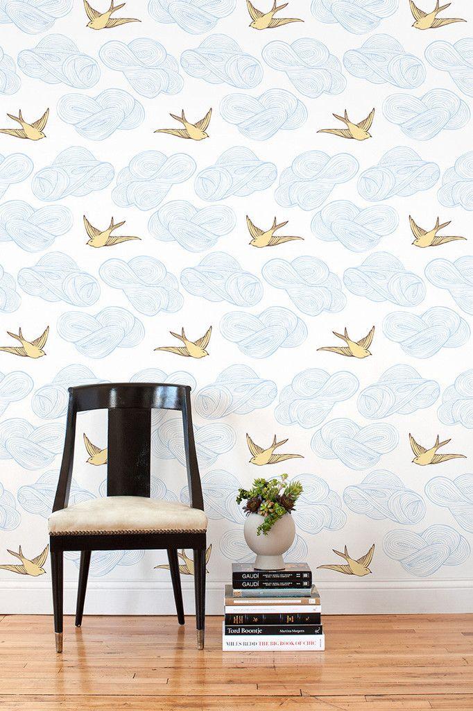 Daydream (Sunshine) Tiles, Set of Tiles Wallpaper