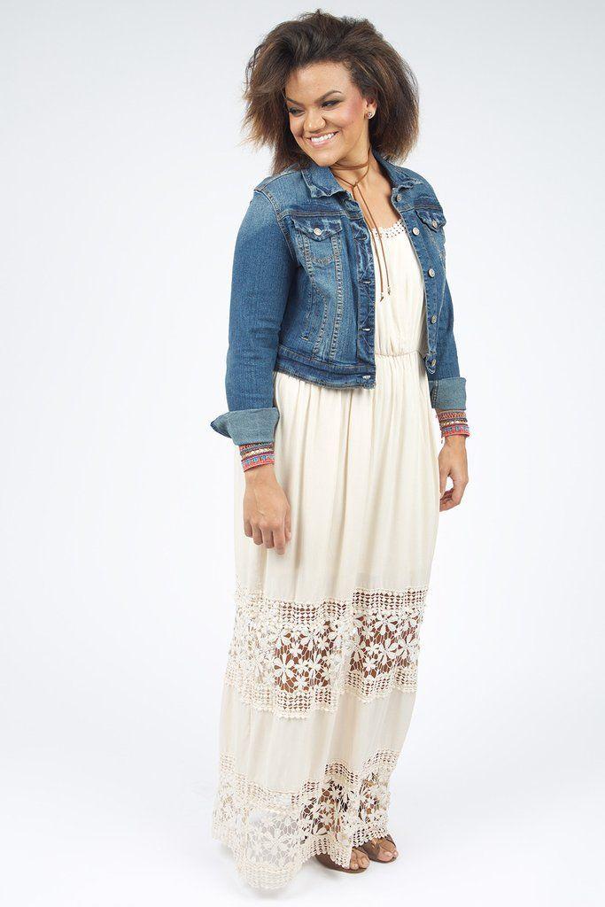 daniella plus size denim jacket | denim jackets, stylish and moda