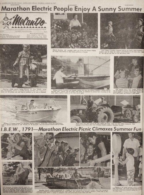 Aug. 30, 1969 - Marathon Electric Picnic