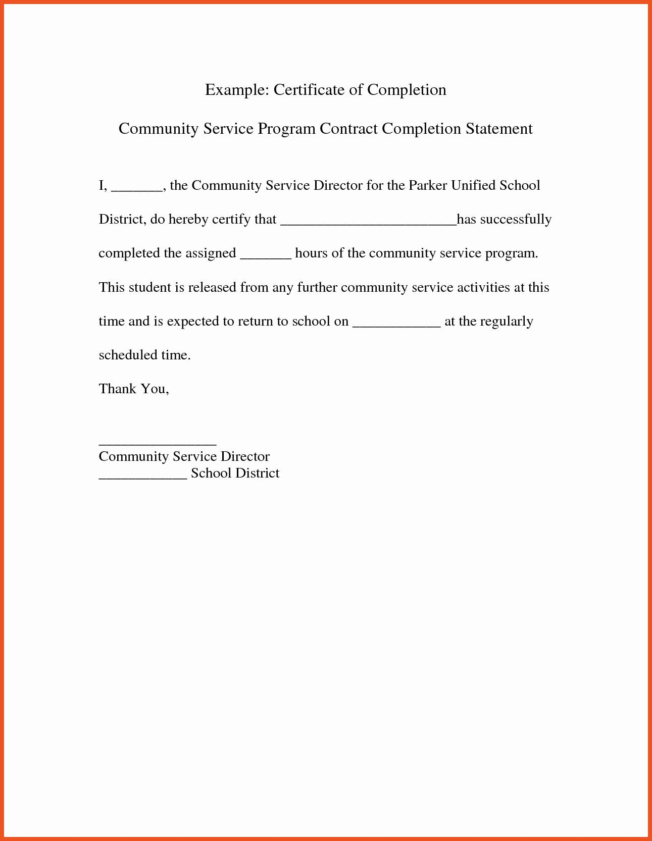 50 Community Service Letter for Court Qq2v di 2020