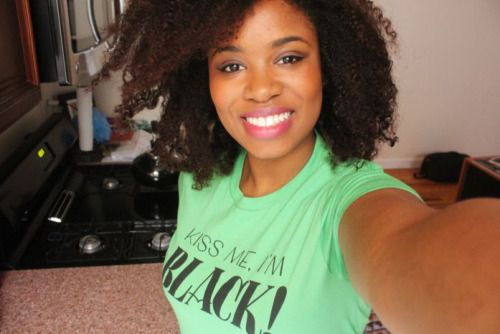 Shirt available at http://www.teespring.com/kiss-me-i-m-black (by Jen Mussari) #naturalhair