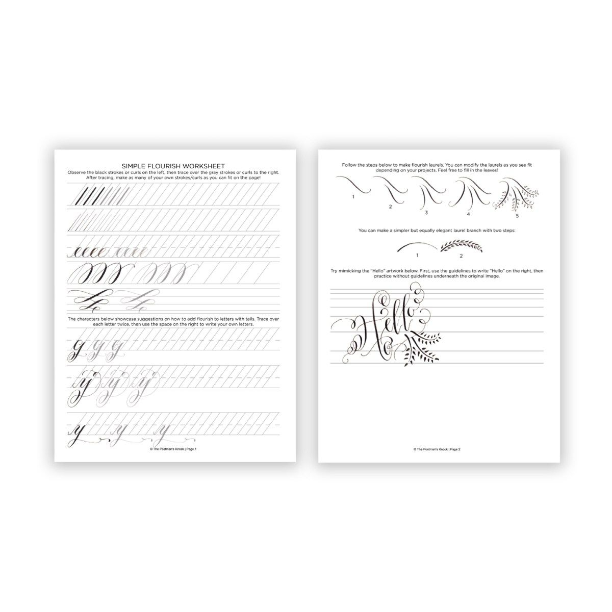 Printable Calligraphy Worksheets Free
