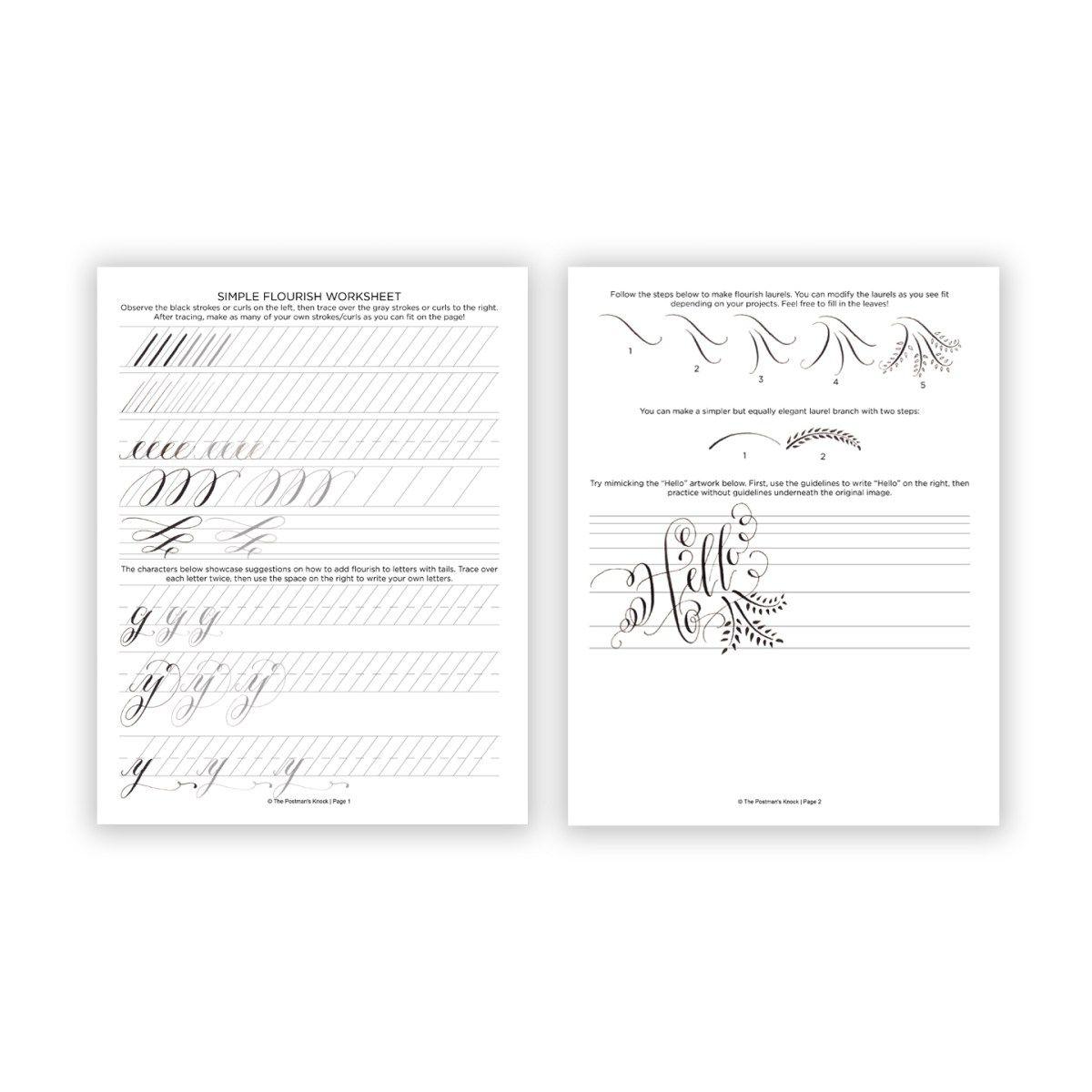 Printable Calligraphy Worksheets Free